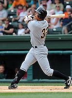 June 14, 2009: Outfielder Kyeong Kang of the Bowling Green Hot Rods, Class A affiliate of the Tampa Bay Rays, in a game against the Greenville Drive at Fluor Field at the West End in Greenville, S.C. Kang has been selected to play in the 2009 Futures Game. Photo by: Tom Priddy/Four Seam Images
