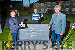 """Members of the St Brendan's Park Residence Committee, hold a vigil """"Shine Your Light"""" in St Brendan's Park on Monday night. L to r: Richard O'Halloran (Sec), Brendan Walsh and Tom O'Brien (Chairman)."""