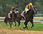16 May 09:  Rachel Alexandra and jockey Calvin Borel win the Preakness Stakes at Pimlico Race Course in Baltimore, Maryland on Preakness Day.