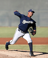 Wily Peralta / Milwaukee Brewers 2008 Instructional League..Photo by:  Bill Mitchell/Four Seam Images