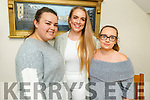 Vicky Stone, Dearbhail Foley and Michaela O'Brien enjoying the evening in Bella Bia on Saturday.