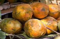 Myanmar, Burma. Papayas.