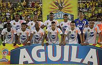 NEIVA - COLOMBIA, 28-10-2018: Jugadores de Envigado F.C. posan para una foto previo al partido entre Atlético Huila y Envigado F.C. por la fecha 17 de la Liga Águila II 2018 jugado en el estadio Guillermo Plazas Alcid de la ciudad de Neiva. / Players of Envigado F.C. pose to a photo prior the match between Atletico Huila and Envigado F.C. for the date 17 of the Aguila League II 2018 played at Guillermo Plazas Alcid in Neiva city. VizzorImage / Sergio Reyes / Cont