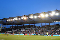 Kansas City, Kansas - Saturday April 16, 2016: A wide view of Children's Mercy Park during the game between Western New York Flash and FC Kansas City. Western New York won 1-0.