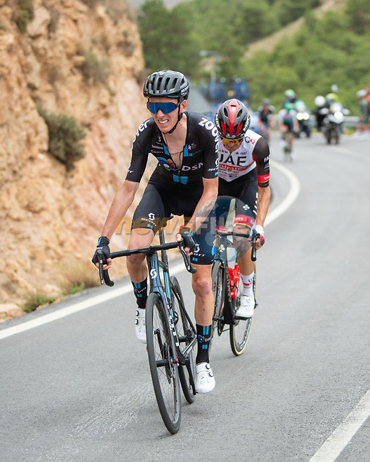 Romain Bardet (FRA) Team DSM and Rafal Pajka (POL) UAE Team Emirates in the breakaway during Stage 9 of La Vuelta d'Espana 2021, running 188km from Puerto Lumbreras to Alto de Velefique, Spain. 22nd August 2021.    <br /> Picture: Cxcling   Cyclefile<br /> <br /> All photos usage must carry mandatory copyright credit (© Cyclefile   Cxcling)