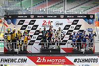 #22 TEAM 202 (FRA) YAMAHA YZF - R1 SUPERSTOCK PARRET FLORENT (FRA) CREUSOT AMANDINE (FRA) VAUBAL ANTOINE (FRA)) - WINNER CATEGORY SUPERTOCK<br /> <br /> #44 NO LIMITS MOTOR TEAM (ITA) SUZUKI GSX-R1000 SUPERSTOCK SCASSA LUCA (ITA) KEMMER CHRISTOPHER (AUT) VITALI LUCA (ITA) SECOND OVERALL <br /> <br /> #96 MOTO AIN (FRA) R YAMAHA YZF - R1 SUPERSTOCK CLERE HUGO (FRA) MULHAUSER ROBIN (SUI) ROLFO ROBERTO (ITA) THIRD OVERALL