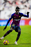 Ousmane Dembele of FC Barcelona in action during the La Liga 2018-19 match between Rayo Vallecano and FC Barcelona at Estadio de Vallecas, on November 03 2018 in Madrid, Spain. Photo by Diego Gouto / Power Sport Images