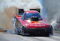 Sept. 24, 2011; Ennis, TX, USA: NHRA funny car driver Melanie Troxel during qualifying for the Fall Nationals at the Texas Motorplex. Mandatory Credit: Mark J. Rebilas-