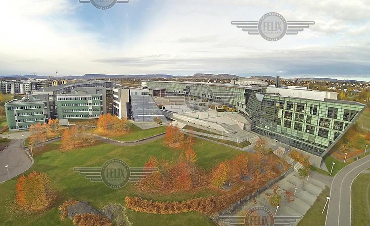 Norwegian telecom Telenor headquarters at Fornebu, Oslo.