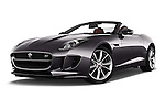 Stock pictures of low aggressive front three quarter view of 2016 Jaguar F Type S 2 Door Convertible Low Aggressive