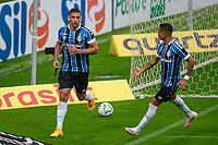 13th September 2020; Arena do Gremio Stadium, Porto Alegre, Brazil; Brazilian Serie A, Gremio versus Fortaleza; Diego Souza of Gremio celebrates his goal (penalty) with Everton in the 52th minute 1-1