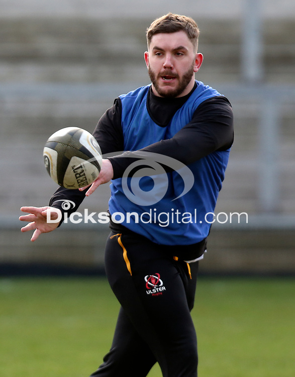 Thursday 18th February 2021 | Ulster Rugby Captain's Run<br /> <br /> Adam McBurney during the Ulster Rugby Captain's Run held at Kingspan Stadium, Ravenhill Park, Belfast, Northern Ireland, ahead of the Glasgow PRO14clash on Friday night. Photo by John Dickson / Dicksondigital