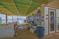 12 July 2013: The Divetech gear prep area and dive shop are ready for divers in the morning located in front of the dock at Cobalt Coast Resort, in West Bay, Grand Cayman Island. Located in the British West Indies in the  Caribbean, the Cayman Islands are renowned for excellent scuba diving, snorkeling, beaches and banking.  Mandatory Credit: Ed Wolfstein Photo *** RAW (NEF) Image File Available ***