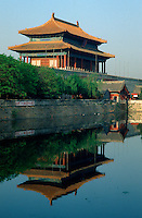 China, Kaiserpalast von Peking, Nord-Wesr-Turm der Mauer; Unesco-Weltkulturerbe