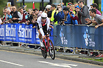 Stefan Kung (SUI) in action during the Men Elite Individual Time Trial of the UCI World Championships 2019 running 54km from Northallerton to Harrogate, England. 25th September 2019.<br /> Picture: Eoin Clarke | Cyclefile<br /> <br /> All photos usage must carry mandatory copyright credit (© Cyclefile | Eoin Clarke)