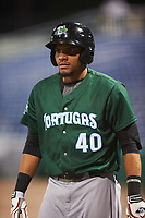 Daytona Tortugas center fielder Jonathan Reynoso (40) during a game against the Clearwater Threshers on April 19, 2016 at Bright House Field in Clearwater, Florida.  Clearwater defeated Daytona 4-1.  (Mike Janes/Four Seam Images)