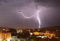 Lightning over downtown Charlottesville.