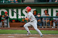 Northwest League All-Star Cavan Biggio (4) of the Vancouver Canadians at bat against the Pioneer League All-Stars at the 2nd Annual Northwest League-Pioneer League All-Star Game at Lindquist Field on August 2, 2016 in Ogden, Utah. The Northwest League defeated the Pioneer League 11-5. (Stephen Smith/Four Seam Images)
