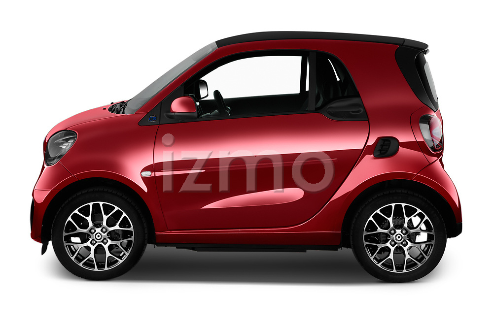 Car Driver side profile view of a 2020 Smart EQ-fortwo Comfort-Plus 3 Door Hatchback Side View