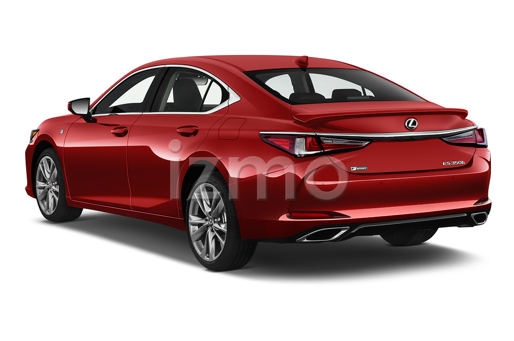 Car pictures of rear three quarter view of 2020 Lexus ES-350 F-Sport 4 Door Sedan Angular Rear