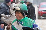 February 22, 2015: Jockey Mike Smith is all smiles after winning the South West Stakes (Grade III) at Oaklawn Park in Hot Springs, AR. Justin Manning/ESW/CSM
