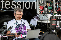 BORA-hansgrohe team manager Ralph Denk working at his (mobile) home office near the start<br /> <br /> 104th Giro d'Italia 2021 (2.UWT)<br /> Stage 21 (final ITT) from Senago to Milan (30.3km)<br /> <br /> ©kramon