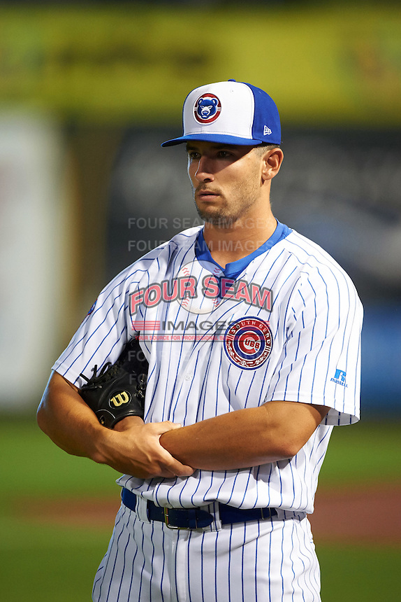 South Bend Cubs pitcher Dillon Maples (35) during a game against the Burlington Bees on July 22, 2016 at Four Winds Field in South Bend, Indiana.  South Bend defeated Burlington 4-3.  (Mike Janes/Four Seam Images)