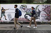 SÃO PAULO, SP, 01.06.2021 - PROTESTO-SP - Protesto do Cartunista Gilmar na Avenida Paulista contra a política econômica e de saúde, adotada pelo governo do Presidente Jair Bolsonaro, nesta terça-feira, 1. (Foto Charles Sholl/Brazil Photo Press)