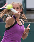 April 8,2016:   Daria Kasatkina (RUS) goes into three sets against Sloane Stephens (USA), at the Volvo Car Open being played at Family Circle Tennis Center in Charleston, South Carolina.  ©Leslie Billman/Tennisclix/Cal Sport Media