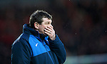 St Johnstone v Aberdeen...06.02.16   SPFL   McDiarmid Park, Perth<br /> Saints boss Tommy Wright<br /> Picture by Graeme Hart.<br /> Copyright Perthshire Picture Agency<br /> Tel: 01738 623350  Mobile: 07990 594431