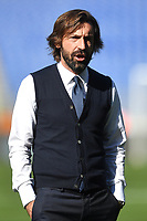 Andrea Pirlo coach of Juventus FC looks on during the Serie A football match between SS Lazio  and Juventus FC at Olimpico Stadium in Roma (Italy), November 8th, 2020. Photo Antonietta Baldassarre / Insidefoto