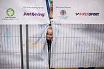 © Joel Goodman - 07973 332324. 15/10/2017 . Manchester , UK . Friends and families wait for athletes at the finish line in the Greater Manchester Half Marathon in Old Trafford . Photo credit : Joel Goodman