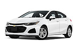 Stock pictures of low aggressive front three quarter view of 2019 Chevrolet Cruze LT 5 Door Hatchback Low Aggressive