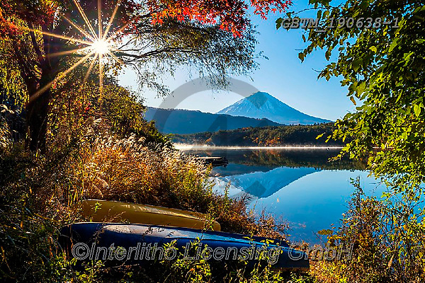 Tom Mackie, LANDSCAPES, LANDSCHAFTEN, PAISAJES, photos,+Asia, Japan, Japanese, Lake Tanuki, Mount Fuji, Tom Mackie, Worldwide, autumn, autumnal, blue, composition, fall, framing, ho+rizontal, horizontals, lake, lakes, landmark, landmarks, nobody, reflect, reflection, reflections, scenery, scenic, seasons,+sunburst, tourist attraction, volcano, water, world wide, world-wide,Asia, Japan, Japanese, Lake Tanuki, Mount Fuji, Tom Mack+ie, Worldwide, autumn, autumnal, blue, composition, fall, framing, horizontal, horizontals, lake, lakes, landmark, landmarks,+,GBTM190638-1,#l#, EVERYDAY