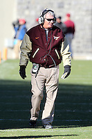 Nov 27, 2010; Charlottesville, VA, USA;  Virginia Tech head coach Frank Beamer during the game at Lane Stadium. Virginia Tech won 37-7. Mandatory Credit: Andrew Shurtleff