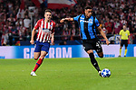 Atletico de Madrid's Santiago Arias and Club Brugge's Arnaut Danjuma during UEFA Champions League match between Atletico de Madrid and Club Brugge at Wanda Metropolitano Stadium in Madrid, Spain. October 03, 2018. (ALTERPHOTOS/A. Perez Meca)