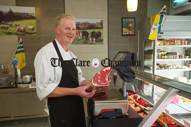 James Quinn of Quinns Meats in his shop. Photograph by John Kelly.