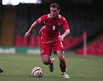 Jason Koumas  on the attack.Wales v Azerbaijan.Group 4, 2010 World Cup Qualifier. © Ian Cook IJC Photography iancook@ijcphotography.co.uk www.ijcphotography.co.uk