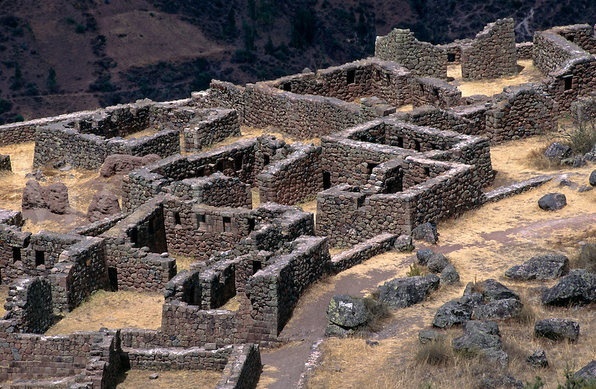 The P'ISACA section of PISAC probably housed the nobility of INCA society - THE SACRED VALLEY, PERU