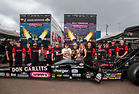 xSep 27, 2020; Gainesville, Florida, USA; NHRA top fuel driver Steve Torrence celebrates with Don Garlits and crew after winning the Gatornationals at Gainesville Raceway. Mandatory Credit: Mark J. Rebilas-USA TODAY Sports