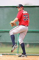 March 23rd 2008:  Tommy Hanson of the Atlanta Braves minor league system during Spring Training at Disney's Wide World of Sports in Orlando, FL.  Photo by:  Mike Janes/Four Seam Images