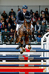 October 17, 2021: William Coleman (USA), aboard Dondante, competes during the Stadium Jumping Final at the 5* level during the Maryland Five-Star at the Fair Hill Special Event Zone in Fair Hill, Maryland on October 17, 2021. Jon Durr/Eclipse Sportswire/CSM