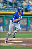 Matt Duffy (23) of the Round Rock Express at bat against the Salt Lake Bees in Pacific Coast League action at Smith's Ballpark on August 13, 2016 in Salt Lake City, Utah. Round Rock defeated Salt Lake 7-3.  (Stephen Smith/Four Seam Images)