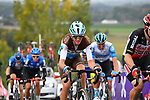 Romain Bardet (FRA) AG2R La Mondiale climbs the final ascent of the Paterberg during the Tour of Flanders 2020 running 244km from Antwerp to Oudenaarde, Belgium. 18th October 2020.  <br /> Picture: Serge Waldbillig   Cyclefile<br /> <br /> All photos usage must carry mandatory copyright credit (© Cyclefile   Serge Waldbillig)