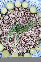 Traditional Greeck black eyed pea salad