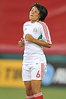 Liliana Mercado (6) of Mexico during pre-game warmups. The USWNT defeated Mexico 7-0 during an international friendly, at RFK Stadium, Tuesday September 3 , 2013.