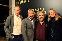 """LOS ANGELES - DEC 7:  Toby Emmerich, Kevin Tsujihara, Peter Jackson, Carolyn Blackwood at the """"They Shall Not Grow Old"""" Premiere at the Linwood Dunn Theater at the Pickford Center for Motion Study on December 7, 2018 in Los Angeles, CA"""