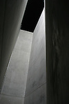 The Holocaust Tower at the Jewish Museum is a vertical void designed to represent how people were cut off from the outside world.  Berlin, Germany
