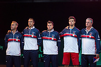 The Hague, The Netherlands, September 15, 2017,  Sportcampus , Davis Cup Netherlands - Chech Republic,  Chech team during national auntum<br /> Photo: Tennisimages/Henk Koster