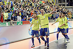 Inter FS's Mario Rivillos, Cardinal, Daniel Shiraishi and Pola during UEFA Futsal Cup 2015/2016 Semifinal match. April 22,2016. (ALTERPHOTOS/Acero)